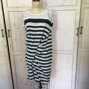 All Saints Ayla Cleo striped silk dress. NWT